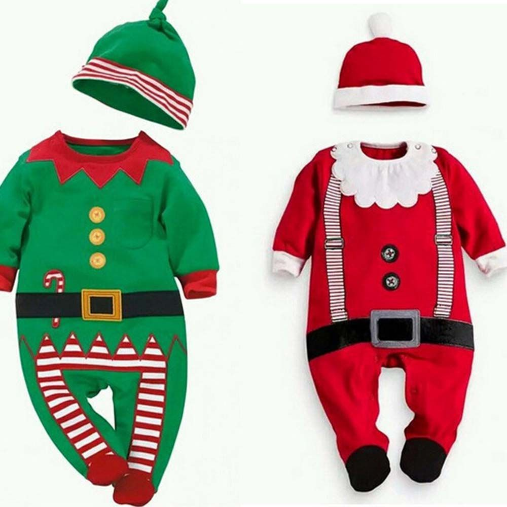 Toddler Baby Boy Girl Christmas Snowman Cosplay Costume Romper Jumpsuit Clothes