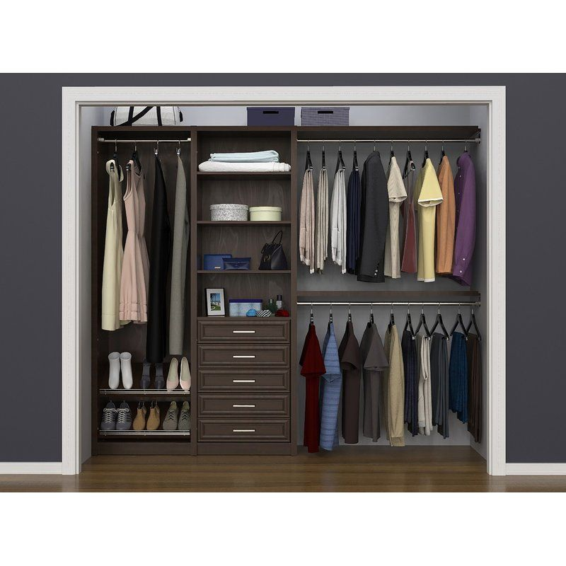 Spacecreations 64 W 99 W Closet System Closet Designs Closet System Closet Organization