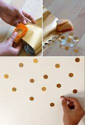 punch gold contact paper to decorate your fridge or walls or whatever  Wohne im  Circle punch gold contact paper to decorate your fridge or walls or whatever  Wohne im Le...