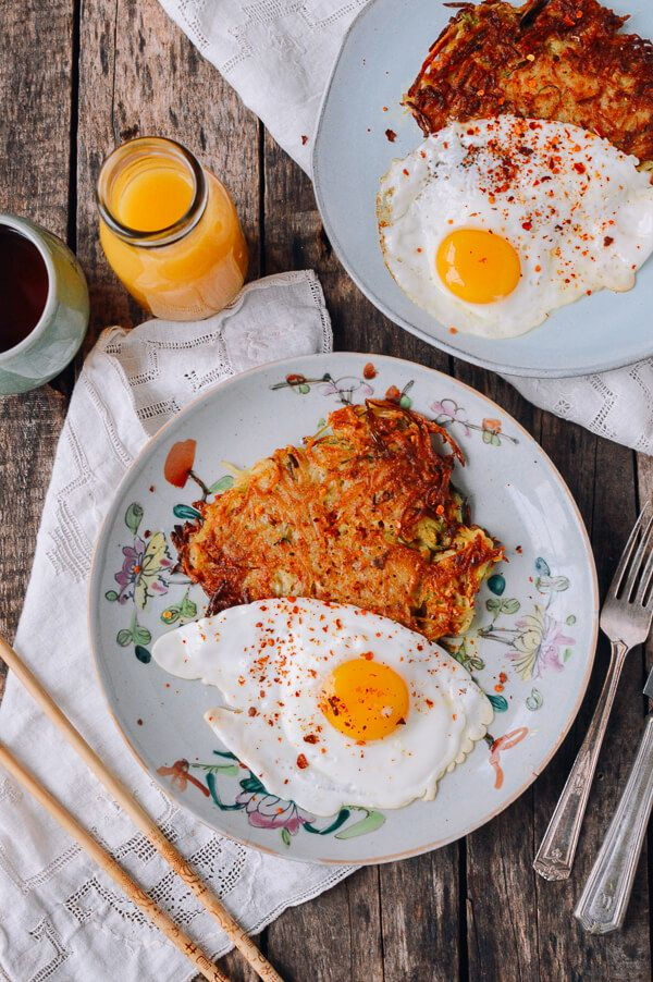 """#Crispy """"#Sichuan"""" #Potato #Cakes and #Eggs recipe, by thewoksoflife.com"""