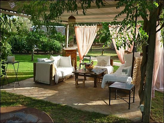 mobiliario jardines rusticos Diseño de jardines Pinterest Tiny