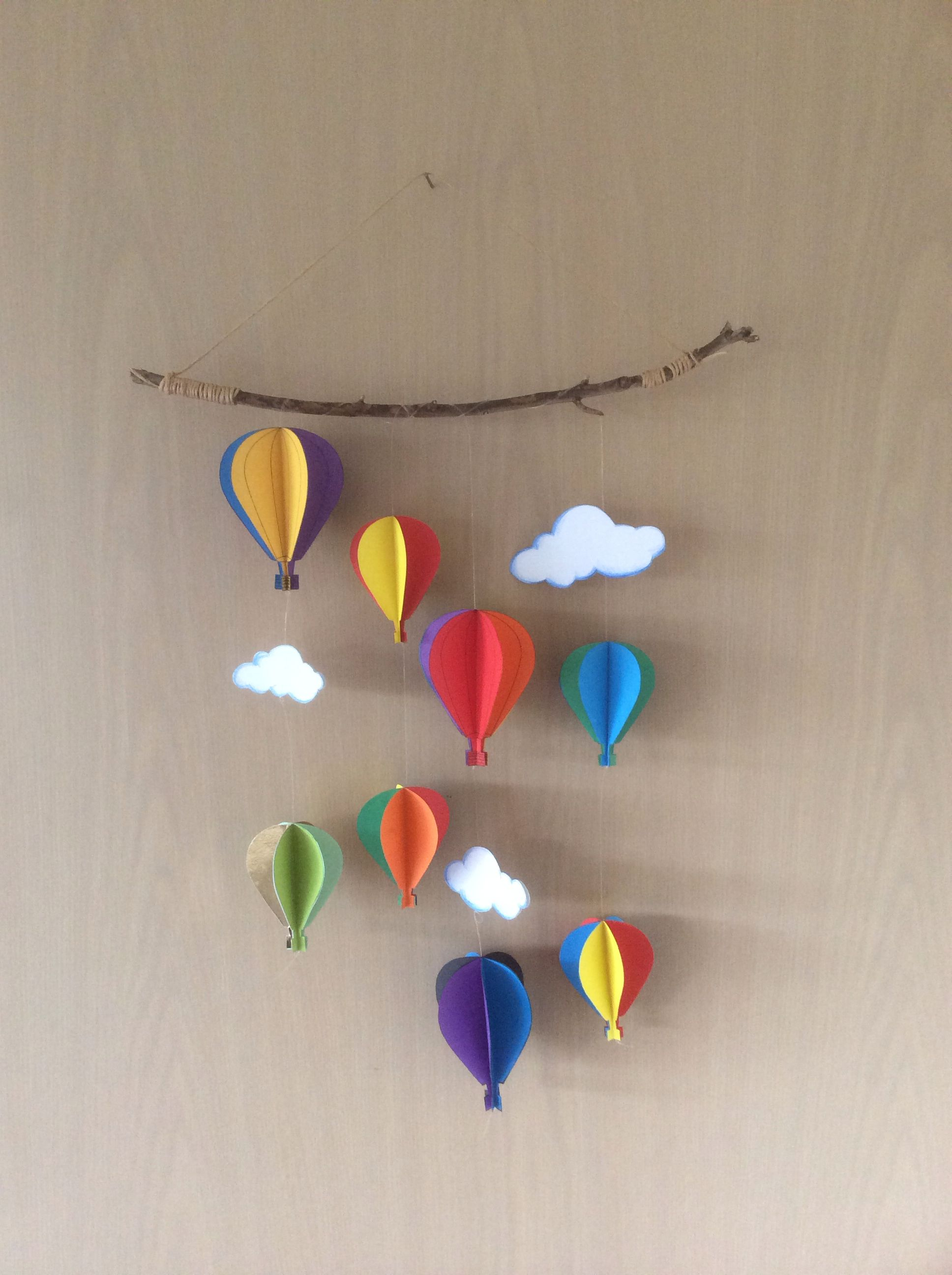 Hot air balloons craft. Made this yesterday.