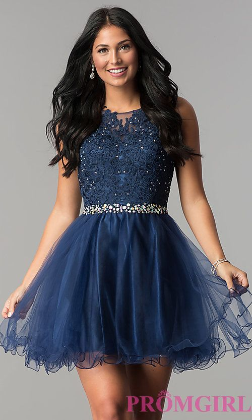 Short Fit and Flare Party Dress- PromGirl   Dresses