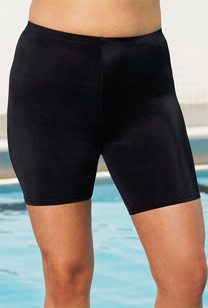 a6443179e2 Chlorine Resistant Black Bike Short in 2019 | suited | Swim shorts ...
