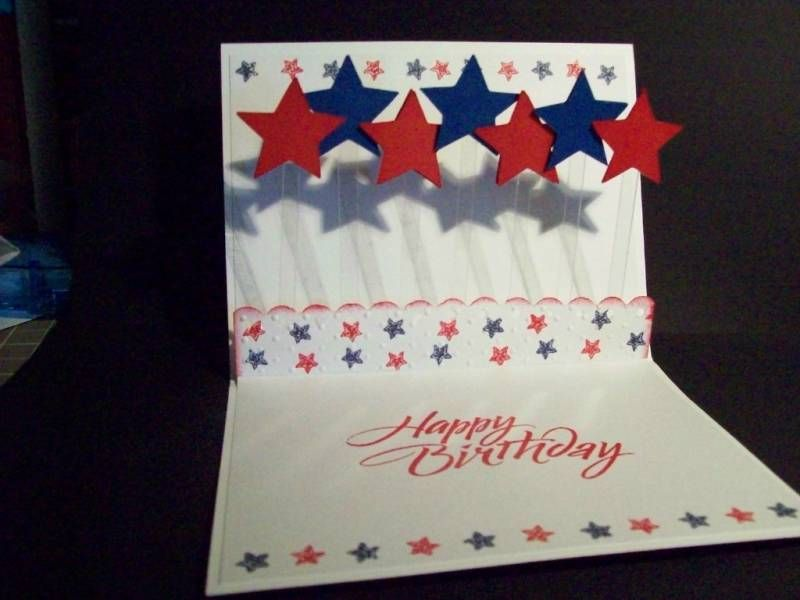 Handmade 4th Of July Card A2 Independence Day Stampin Up