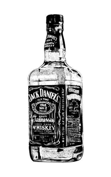Illustration Jack Daniel S Jack Daniels Beer Tattoos Whisky Glass