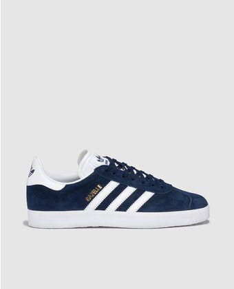 Zapatillas deportivas de mujer azules con franjas blancas ...