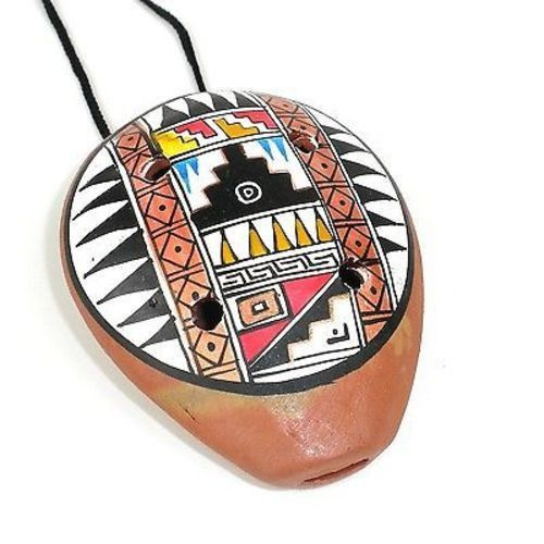 Traditional Ceramic Ocarina Necklace - Jamtown World Instruments
