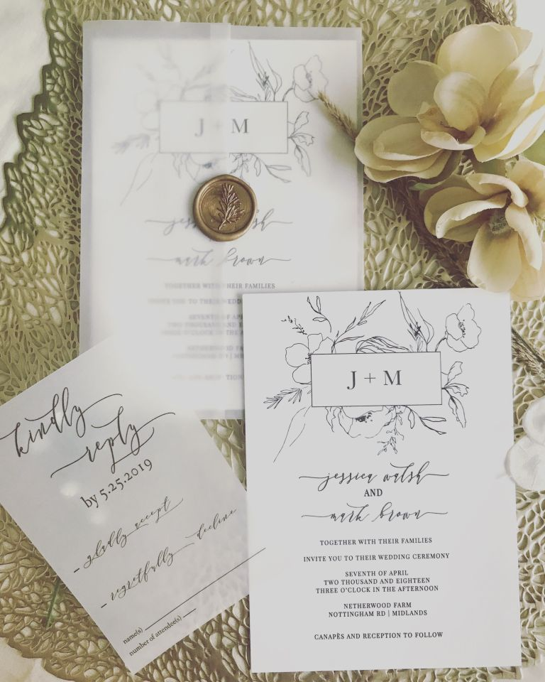 17 Diy Vellum Wedding Invitation Ideas You Can Do Cheap Wedding Invitations Wedding Invitations Botanical Invitations