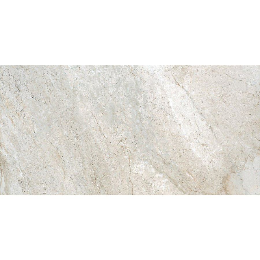Shop style selections classico travertine taupe glazed porcelain floor tile common 12 in x 24 - Lowes floor tiles porcelain ...