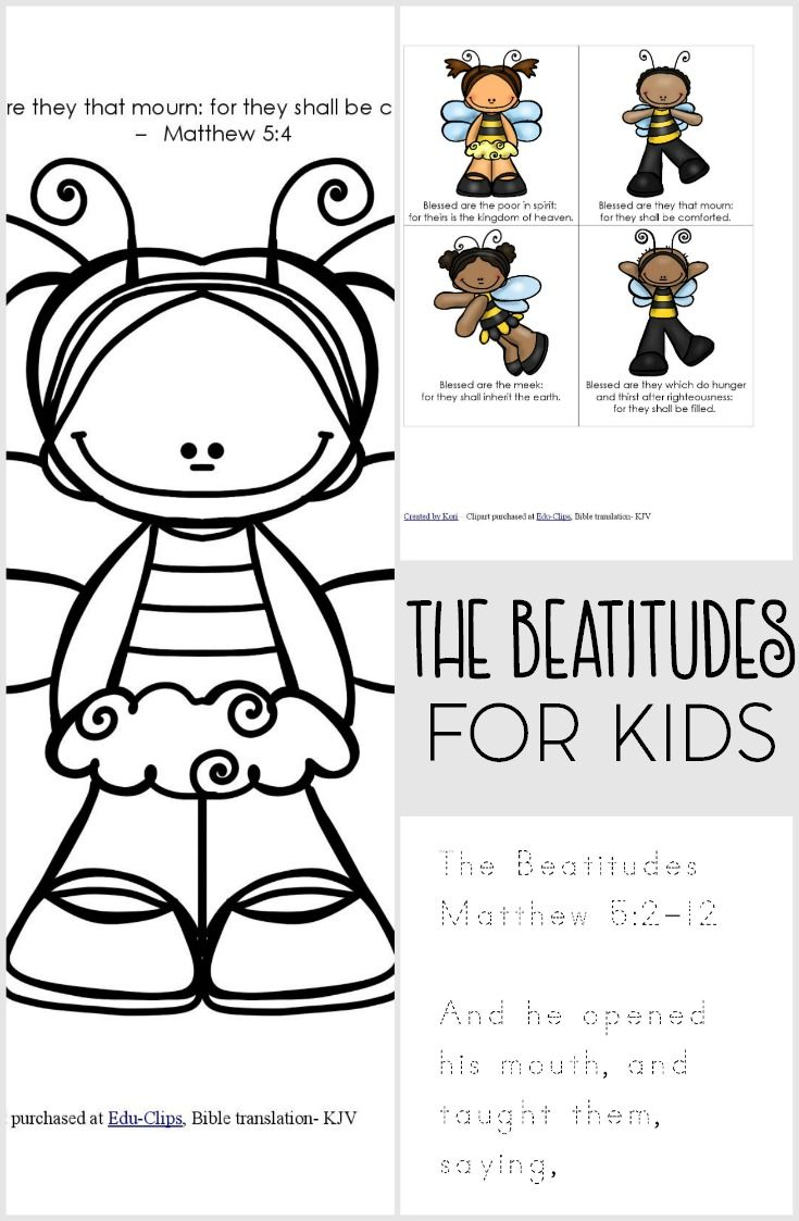 The Beatitudes are one of my favorite parts from the Sermon on the Mount in  the New Testament. Help teach your toddler or preschooler or Sunday School  class ...
