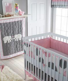 Pink & Gray Pink Parade Crib Bedding Set