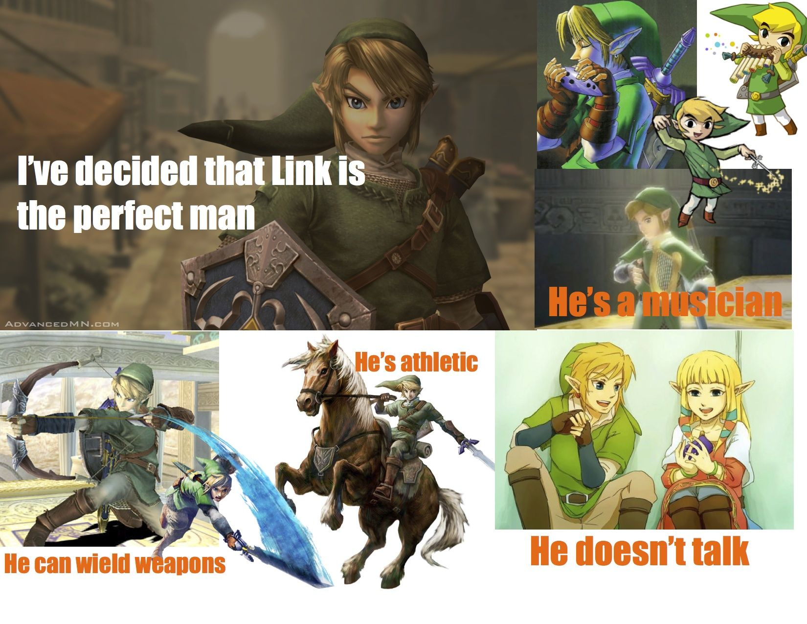 I've decided that Link is the perfect man