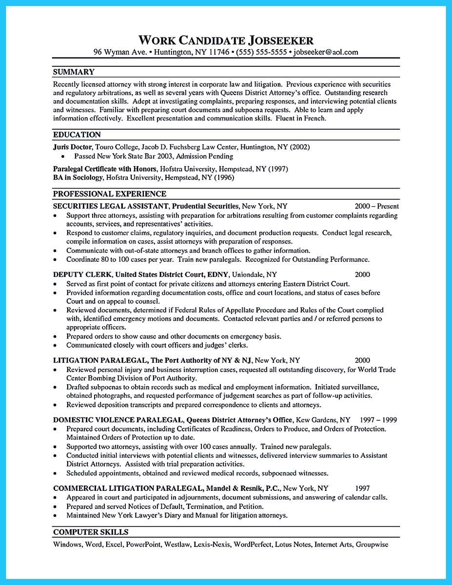 Resume Setup Example Cool Arranging A Great Attorney Resume Sample  Resume Template