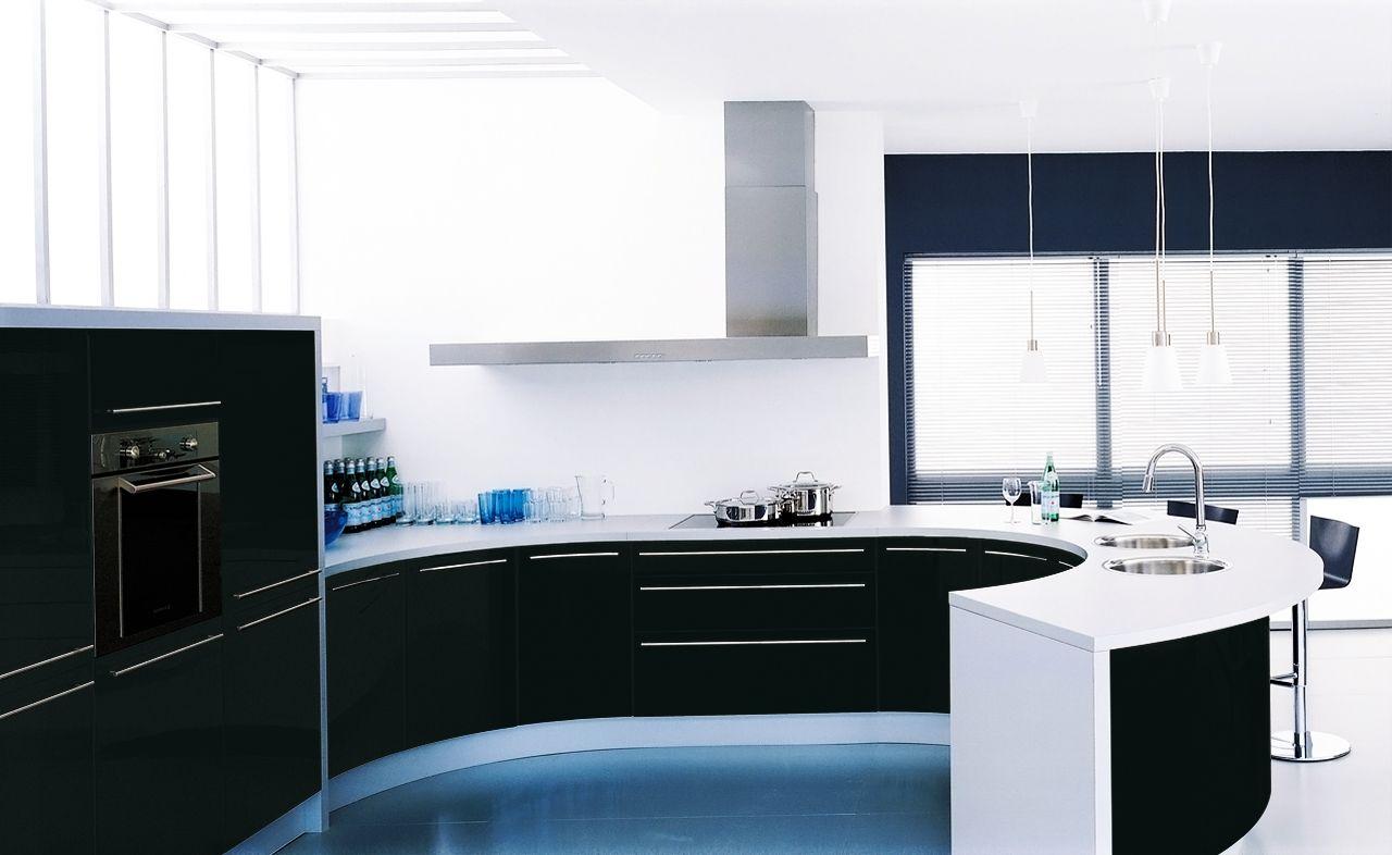 Cuisine Design - Laque brillant - Lagune & giro. Cette cuisine ...
