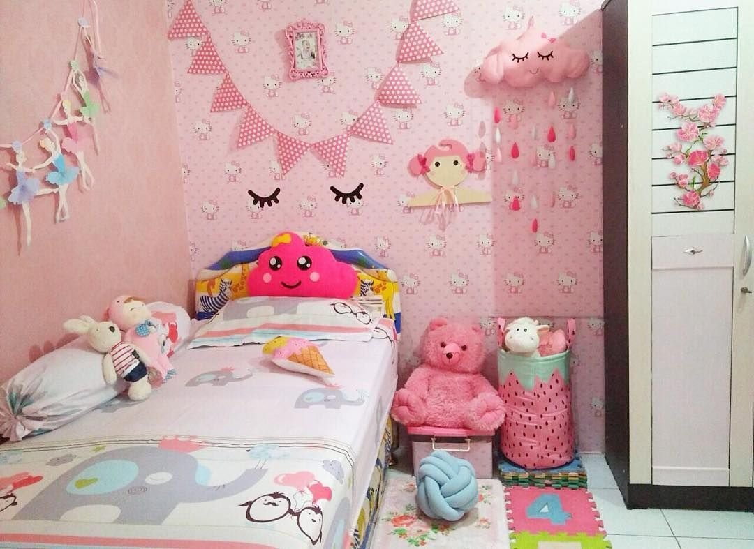 Cat Kamar Tidur Anak Perempuan Minimalis