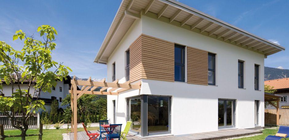 einfamilienhaus volders gro z giges wohnen auf kleinem raum fassade. Black Bedroom Furniture Sets. Home Design Ideas