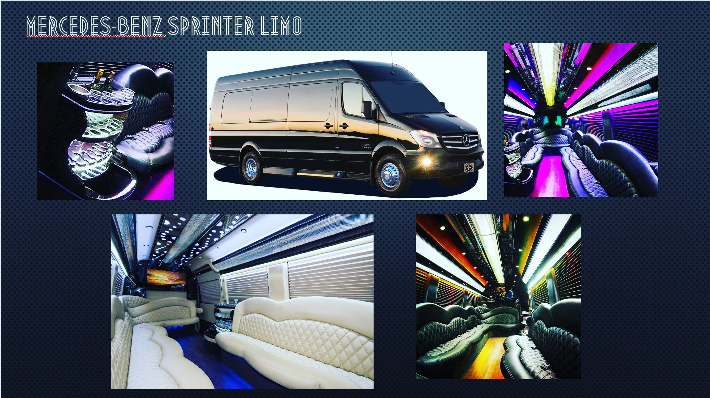 2a516d6c7a Mercedes-Benz Sprinter Limo rental is available in Boston area.  Comfortable