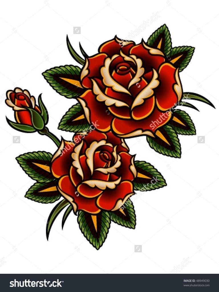 The Vintage Rose Tattoos Designs Vintage Rose Tattoos Traditional Rose Tattoos Vintage Tattoo