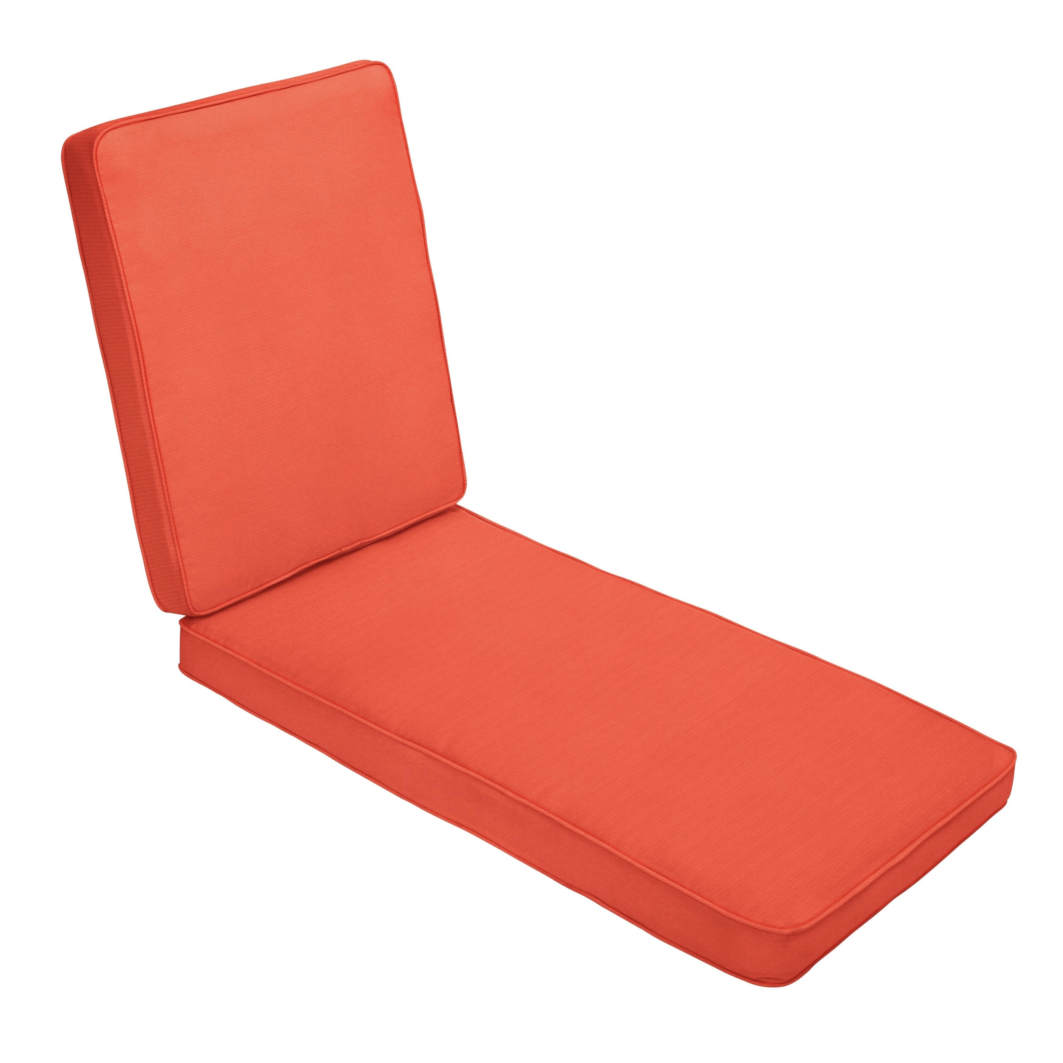 Sunbrella Melon Orange Indoor/ Outdoor Hinged Cushion