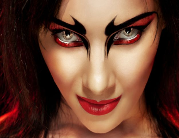 Beautiful Devil Makeup For Halloween Contemporary - harrop.us ...