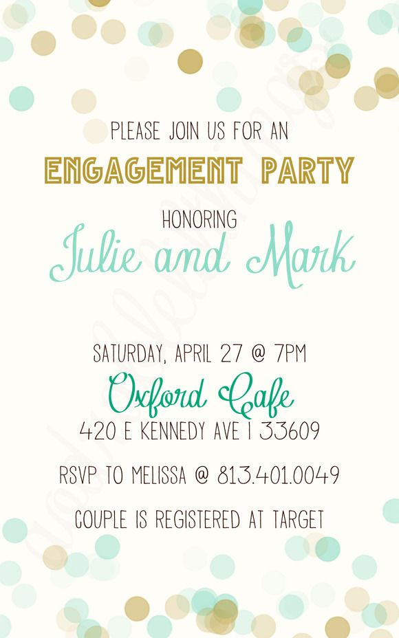 Invitation Templates ~ Cool Bokeh Engagement ~ Creative Market - free engagement invitation templates