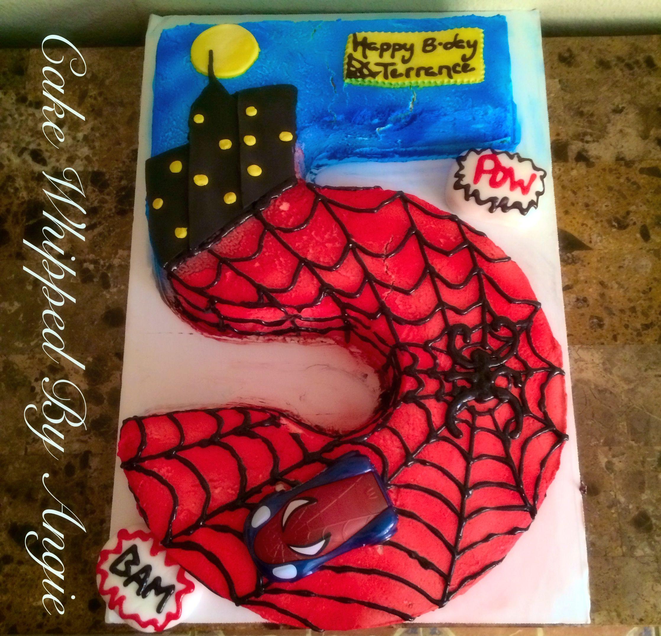 spiderman number birthday cake www facebook com cakewhippedbyangie