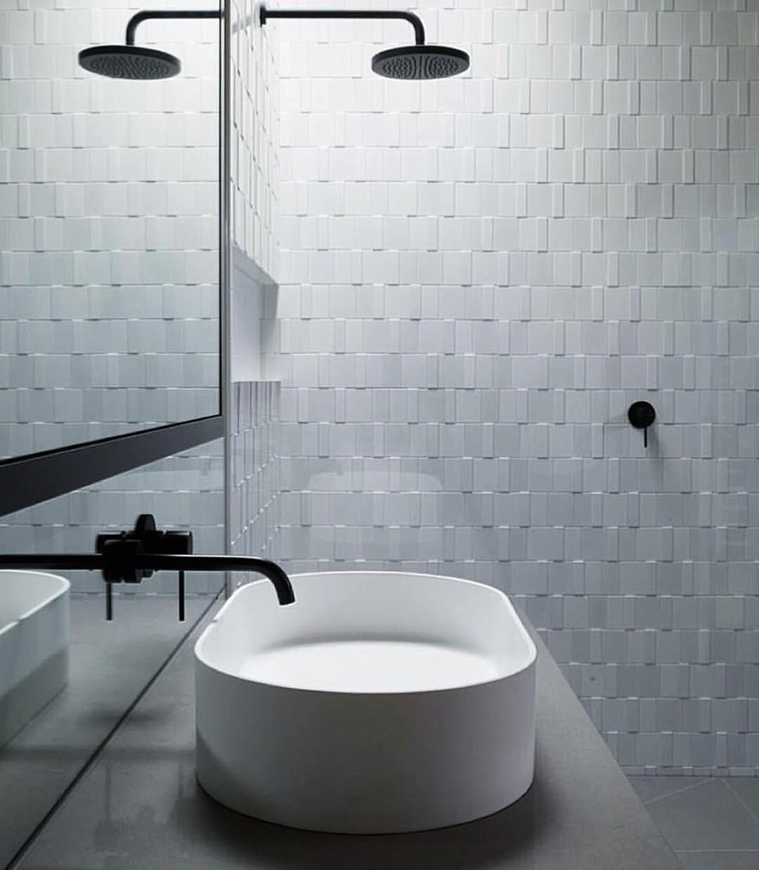 Format White Mix by #INAXJapan matte and gloss white tiles with two ...