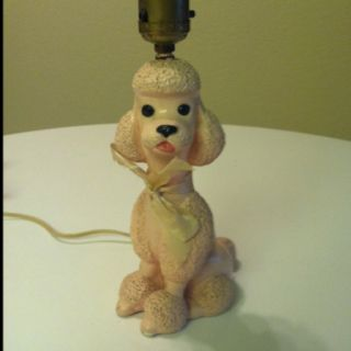 Vintage poodle lamp - love!