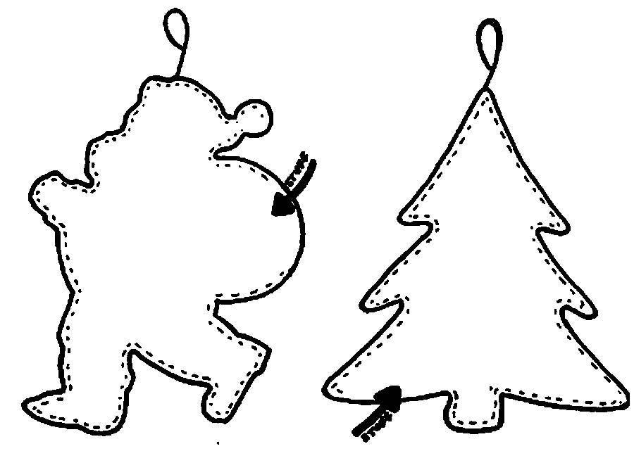 Färbung Weihnachtsbaum Vorlage Zum Ausschneiden Papier Muster