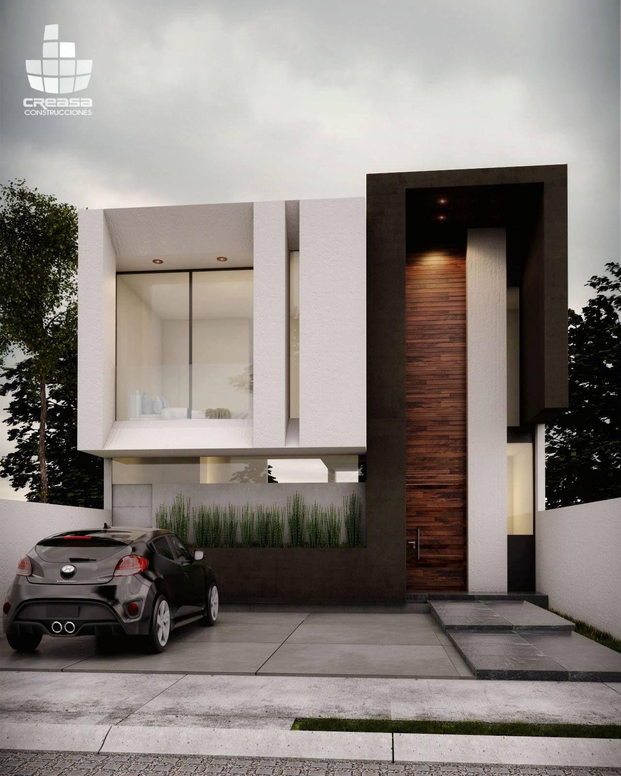 Creasa z creasa mx pinterest fachadas casas y casas for Casa minimalista 2018
