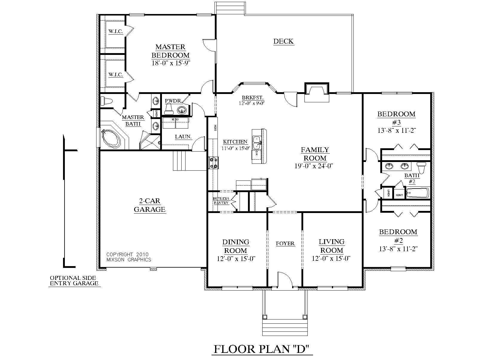 House Plans For 2000 Sq Ft Ranch Floor Plans Open Concept House Plans House Plans