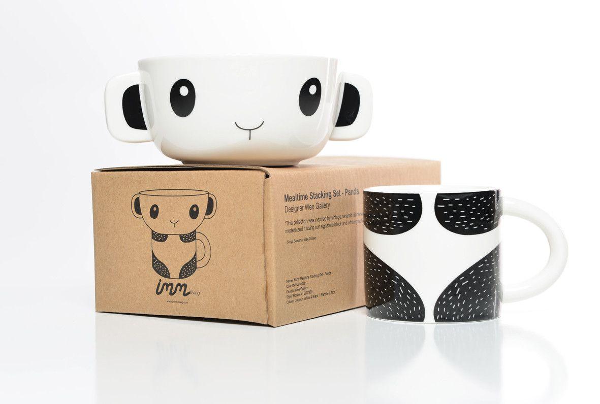 Mealtime Bowl & Cup Stacking Set - Panda