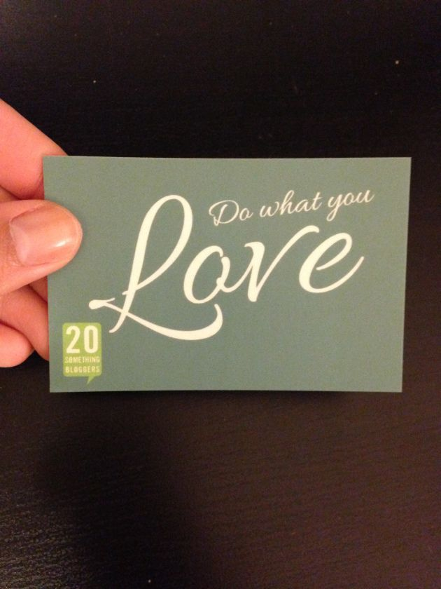 blogger business cards | do what you love | Moo cards | 20 something ...