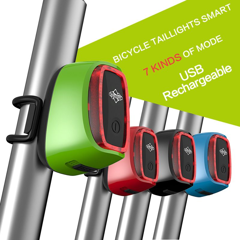Waterproof 900mah Usb Battery Led Bike Light Road Bike Intelligent