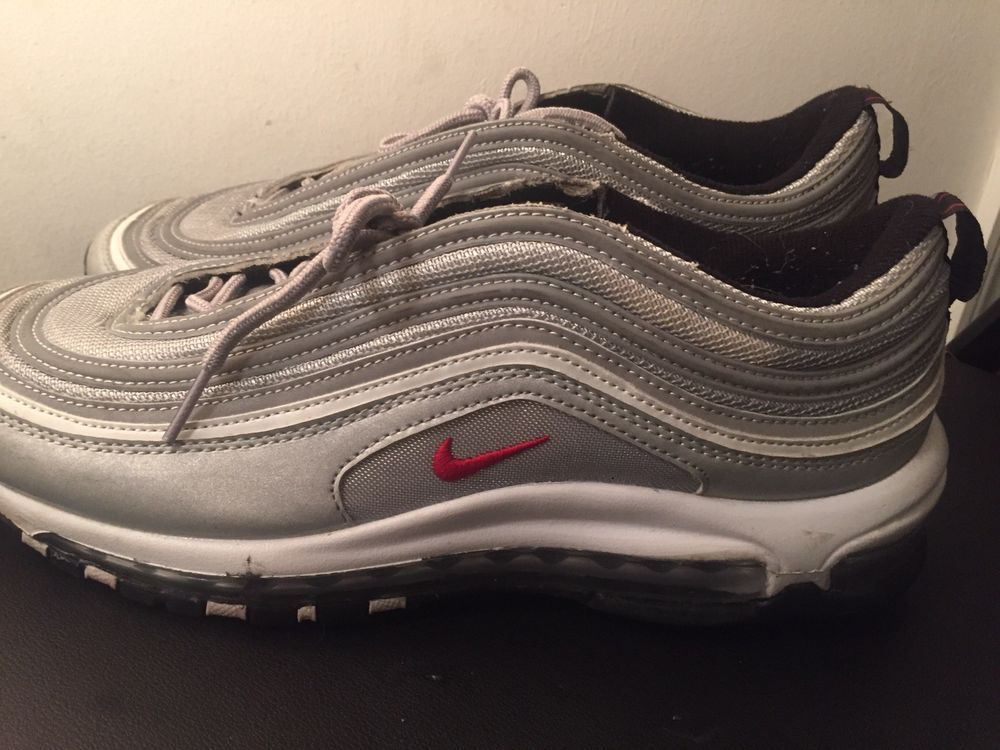 nike air max 97 silver bullet Size 10 Pre Owned #fashion