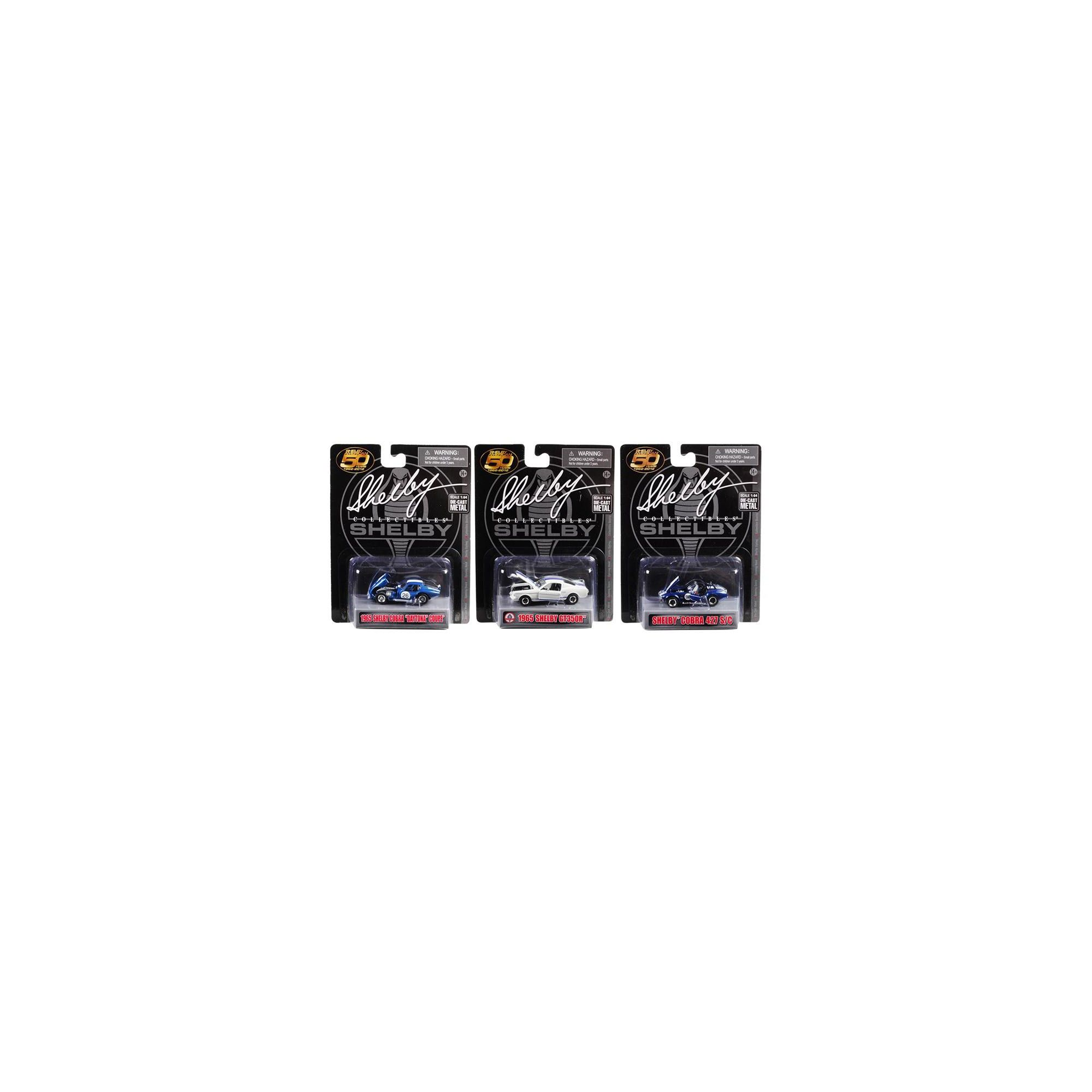Carroll Shelby 50th Anniversary 3 piece Set 1/64 Diecast Model Cars by Shelby Collectibles