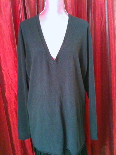WEST AND VINE WOMAN HEATHER V NECK SWEATER ROLLED EDGES SZ 3X RTL$88! FREE SHIP!