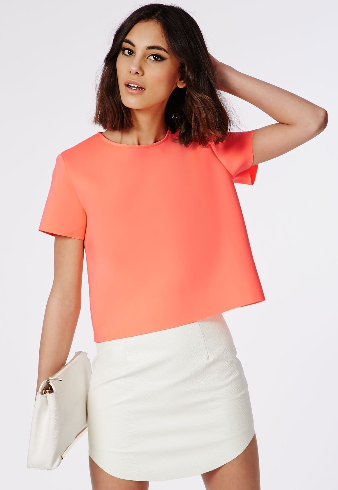 dd72dab35a Neoprene Boxy Top - Tops - Box Tops - Missguided
