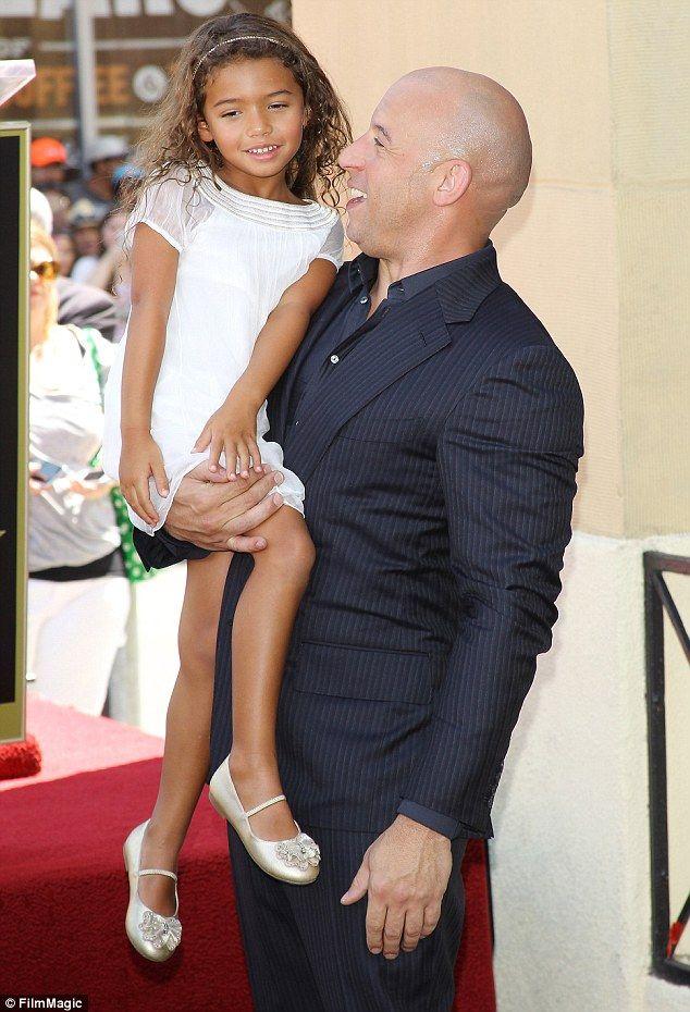 Daddy\'s little stars! Vin Diesel\'s girlfriend and two children ...