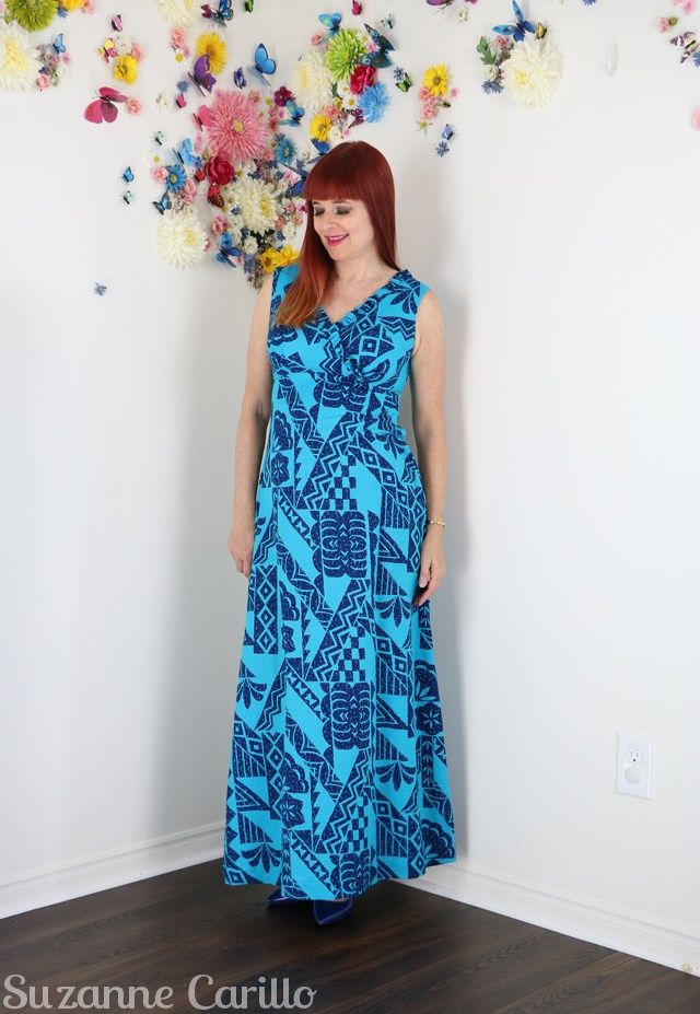 e467c9d274c5 vintage 1960s hawaiian maxi dress tiki dress suzanne carillo ...