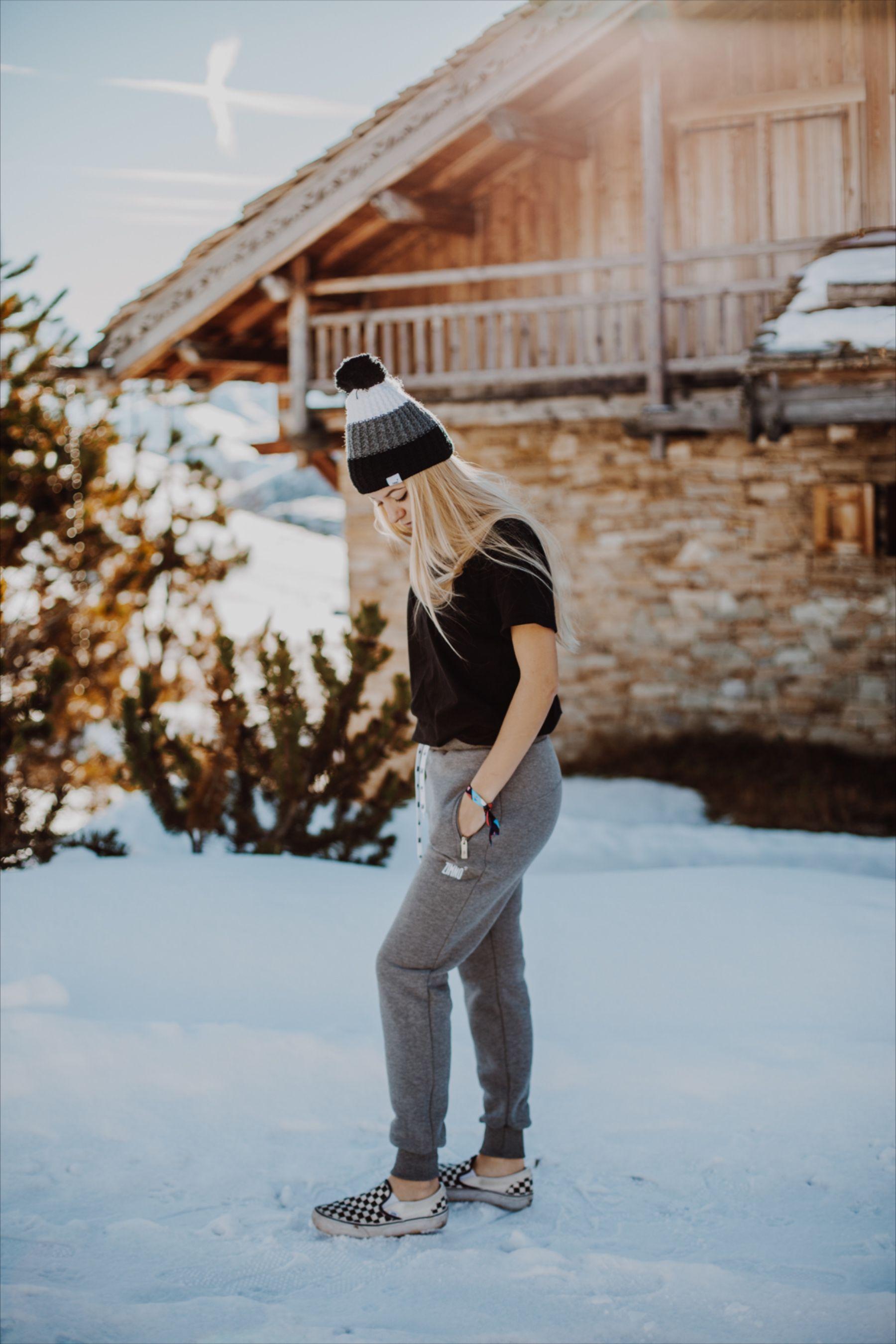 Damskie Spodnie Dresowe Szare Fashion T Shirty Style