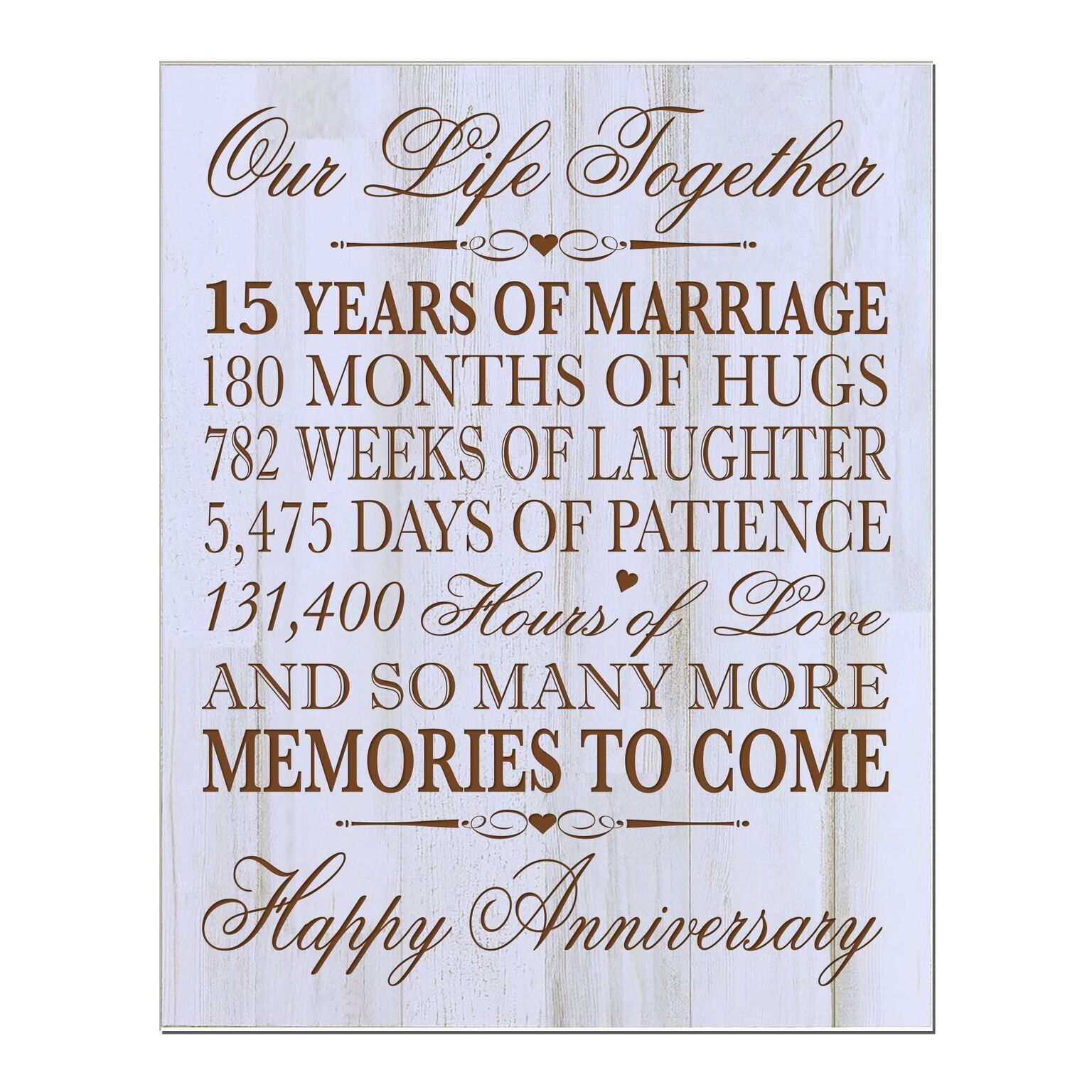 Lifesong Milestones 15th Wedding Anniversary Gift For Couplecustom