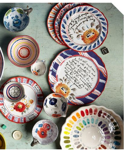 Paint Plates Anthropologie Plates Anthropologie Kitchen Quirky Decor