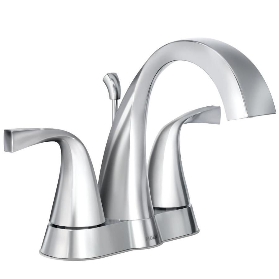 Moen Oxby Chrome 2 Handle 4 In Centerset Watersense Bathroom Sink