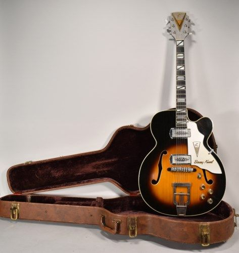 1957 Kay Barney Kessel Sunburst Finish Vintage Electric Guitar w/OHSC #vintageguitars