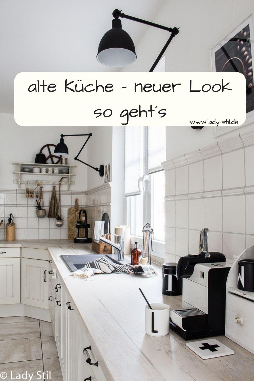 Neue Kuchenarbeitsplatte Sorgt Fur Neuen Look In Der Alten Kuche Lady Stil De Kuchenarbeitsplatte Kuchenumbau Kuche Renovieren