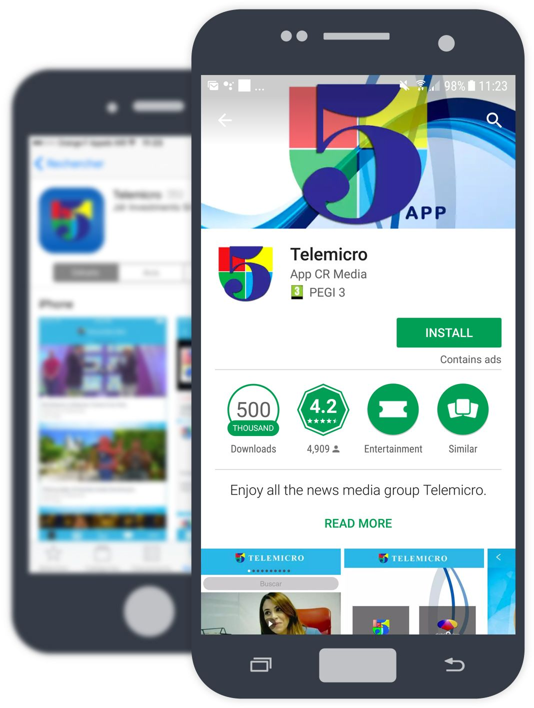 Create app for ios and android