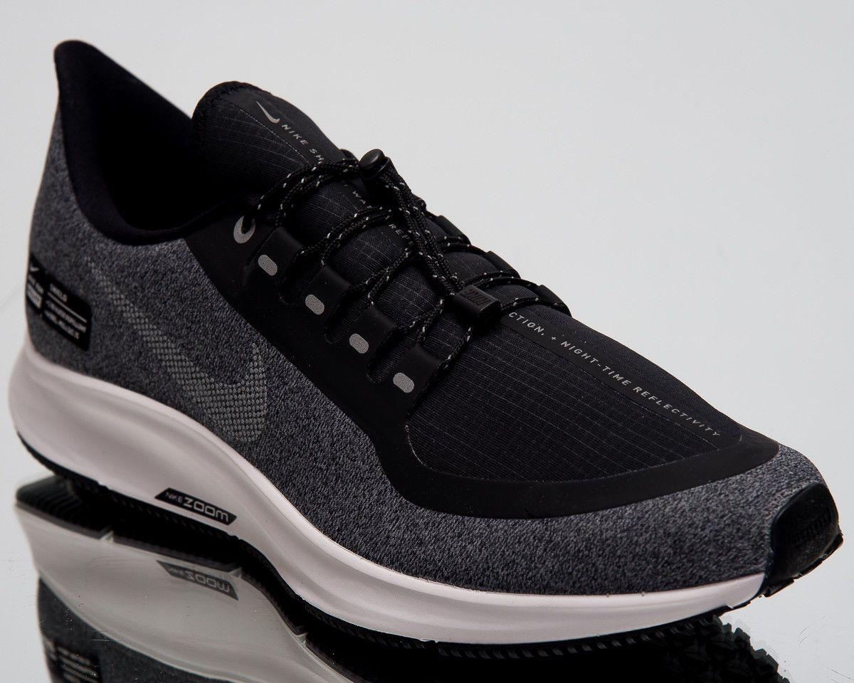e5d885a97466c Nike Air Zoom Pegasus 35 Shield Running Shoes Black White Sneakers AA1643- 001