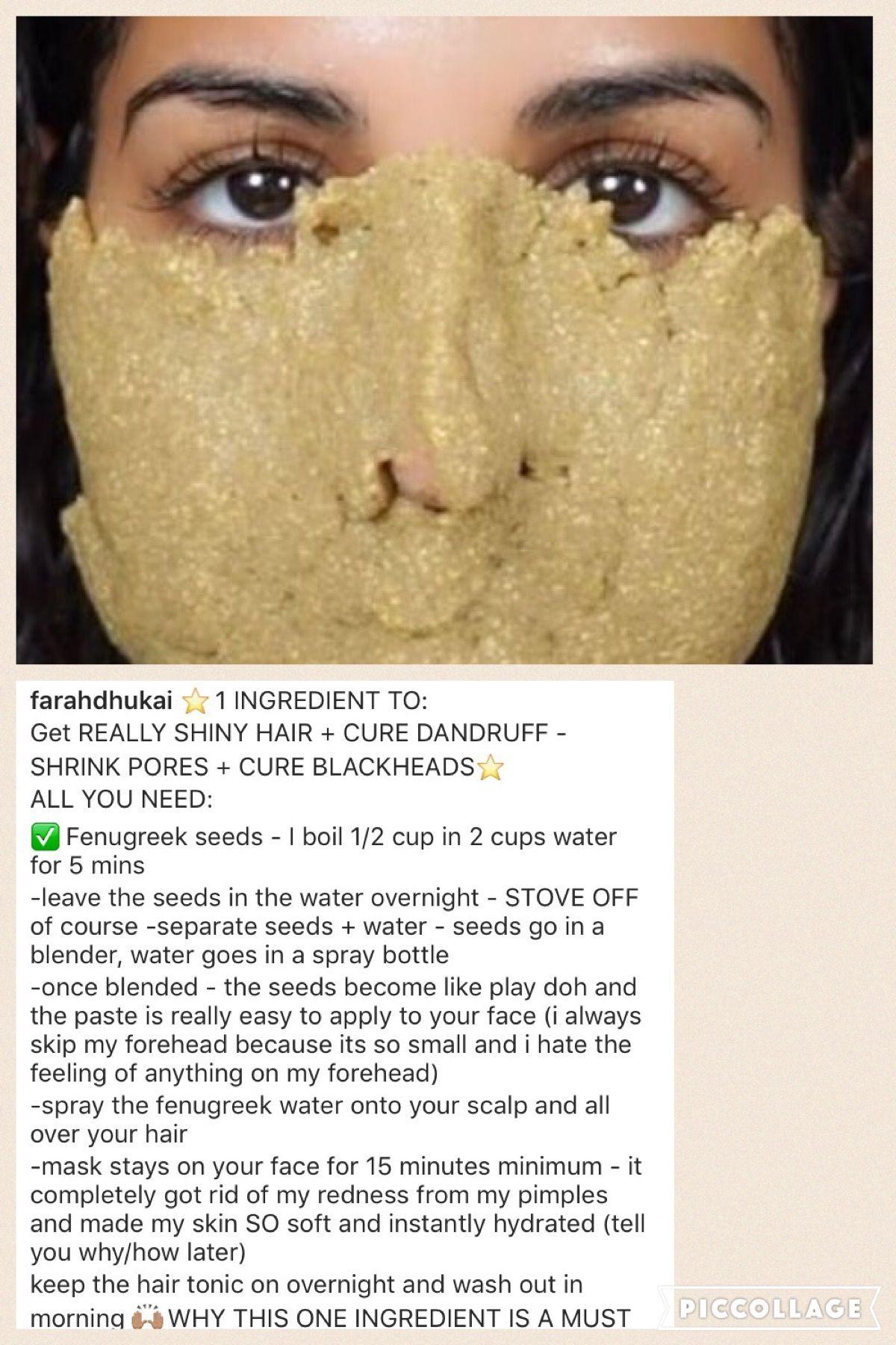 fenugreek uses for face